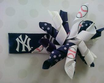 New York Yankees Korker Hairbow