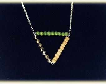 Long Geometric Bar Necklace