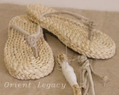 Orient Legacy Straw Beach Flip Flops Handmade Eco Friendly Slippers Customized Straw Sandals Shoes