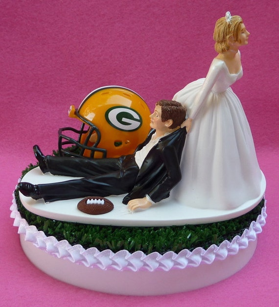 Green Bay Cake Topper Wedding