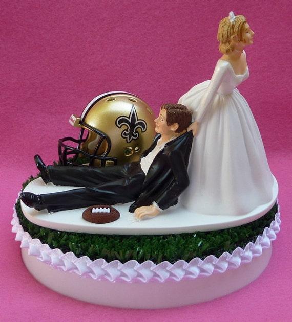 New Orleans Wedding Ideas: Wedding Cake Topper New Orleans Saints Football Themed Sports