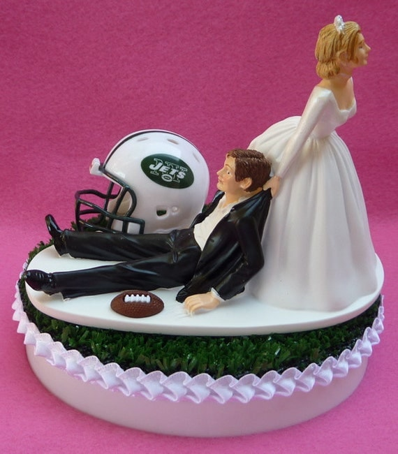 wedding cake toppers in new york wedding cake topper new york jets ny football themed sports 26513