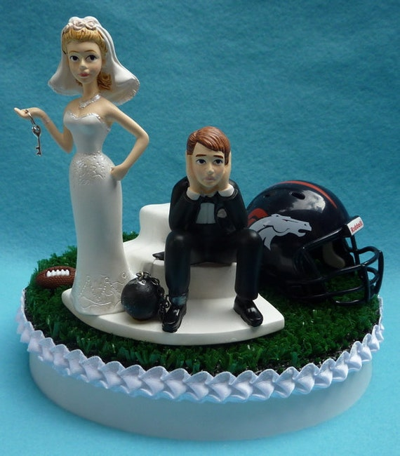 wedding cake toppers denver co wedding cake topper denver broncos football themed and 26450