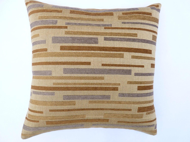 Maia Modern Pillows : Modern throw Pillow 17 x 17 with feather/down