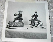 Antique Doll Mechanical English Dolls Real Photo from Collector's Records