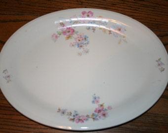 Edwin M Knowles Semi Vitreous Oval Serving Platter Large 45-11