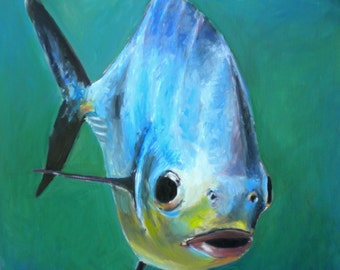 "20""x20"" oil Painting of Permit"