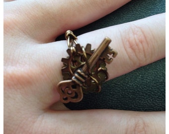 Key to the city steampunk ring