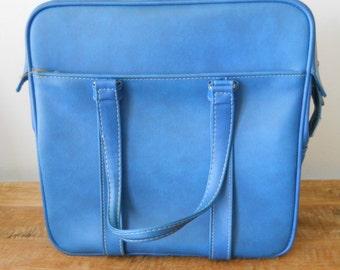 Vintage Sky Blue Samsonite Silhouette Weekend Bag