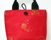 Red Brocade Tote