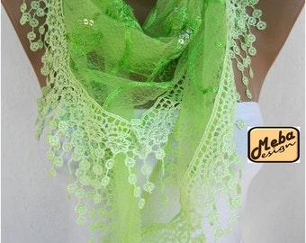Lace scarf ,women scarves - guipure -  fashion scarf - gift scarves -Shawl- Fashion Shawls