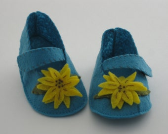 Light Turquoise/Sunflower  Mary Jane