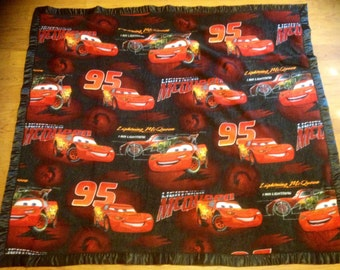 Lightning McQueen Cars Double-Sided Fleece Blanket (Ready To Ship)
