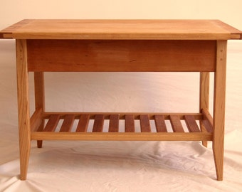 Cherry Shaker Style Coffee Table with Drawer and Shelf