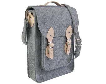 Vertical Laptop bag 13 in, felt satchel, macbook pro, macbook air 13 inch sleeve, case, bag