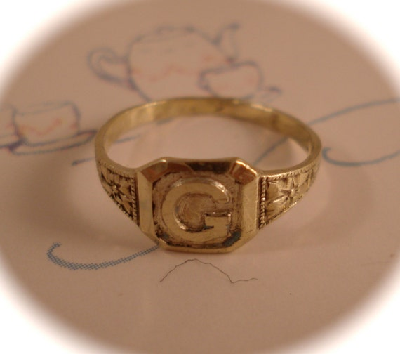 Vintage Kiddie Kraft Ring 14k Gold Kiddie Kraft Baby Infant