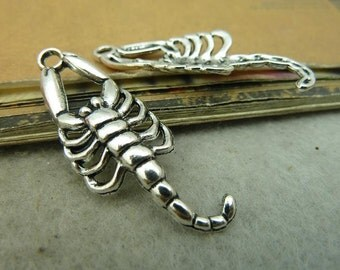 20pcs 16x41mm Antique Silver Scorpion Charms Pendants AC4619