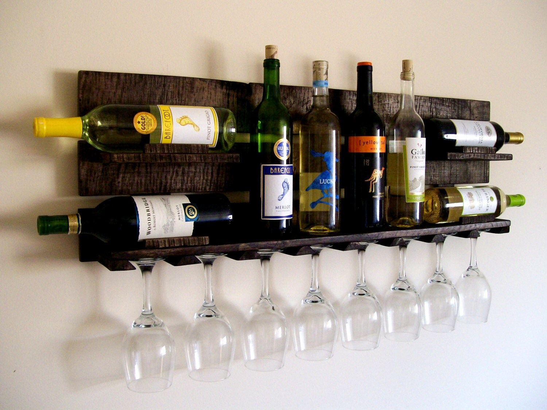 reclaimed wood wine rack pallet wood wine rack dark. Black Bedroom Furniture Sets. Home Design Ideas