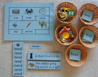 Montessori Language Blue Series Phonics Educational Kit