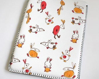Rabbits - orange - red - iPad Case - iPad Sleeve - iPad Cover