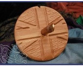 British Pride Top Whorl Drop Spindle in Bamboo and Walut