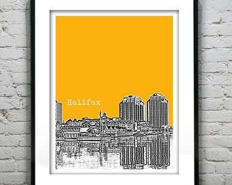 Halifax Nova Scotia Skyline Poster Canada Art Print