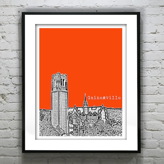 Gainesville Florida Poster Print Art FL Version 2
