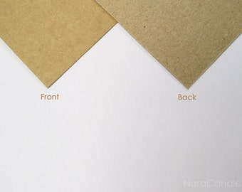 Kraft Business Card, Two Tone Brown Card Set of 100