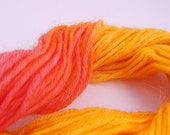 Hand Dyed Sock Weight Mini Skein - SEDONA SUNSET