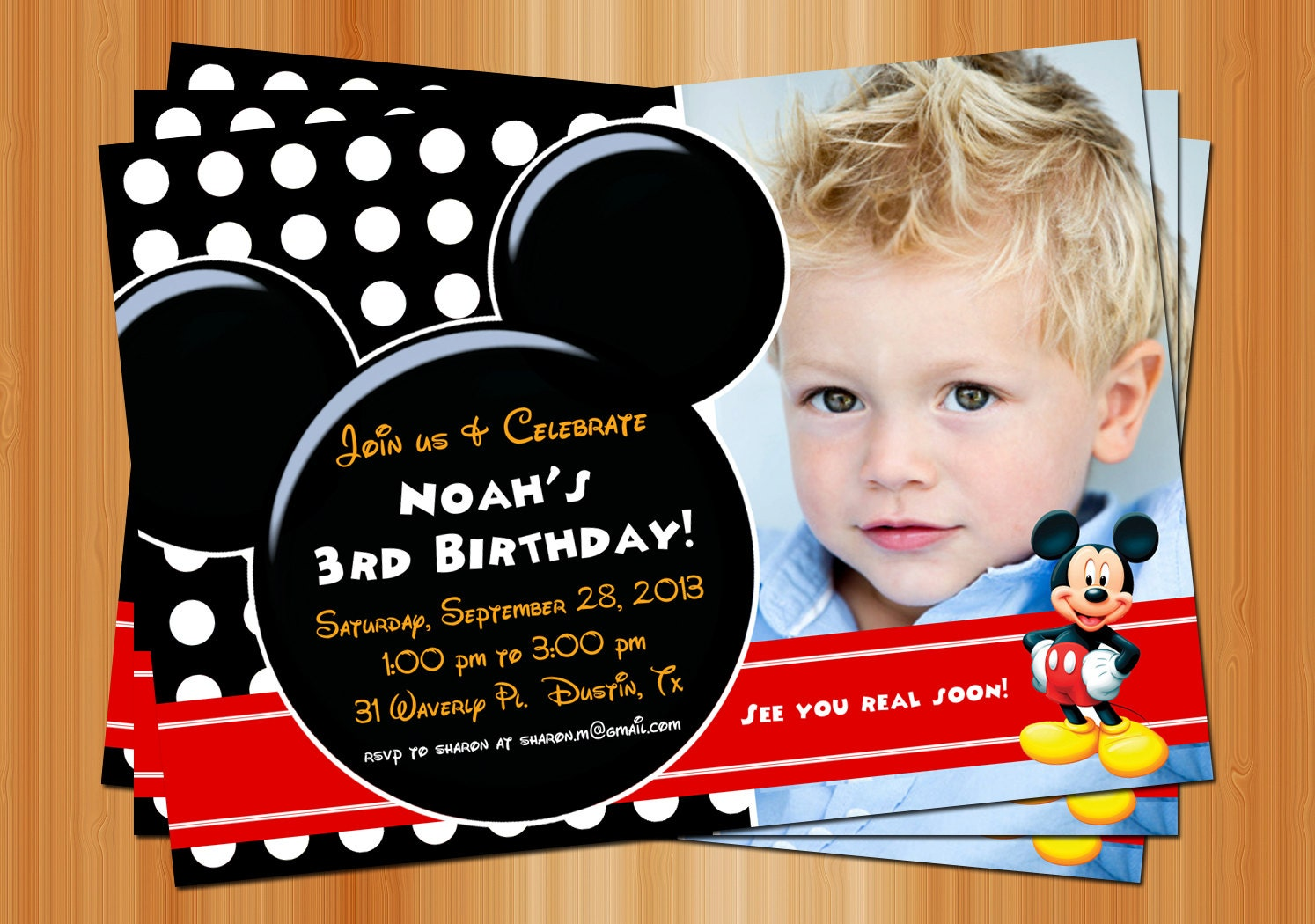 Mickey Mouse Birthday Invitation can inspire you to create best invitation template