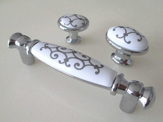 96 Mm Weiß Silber Griffe Für Möbel Griff Knäufe Möbelgriffe
