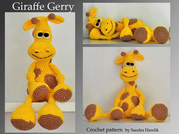 crochet pattern amigurumi giraffe pdf di MOTLEYCROCHETCREW