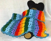 Twins / 2 Bibs and 2 Blankets / 2 sets or sold separately /  Vibrant  / Baby / Ready to ship
