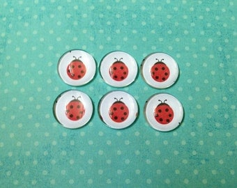 Lady Bug Bubble Magnets