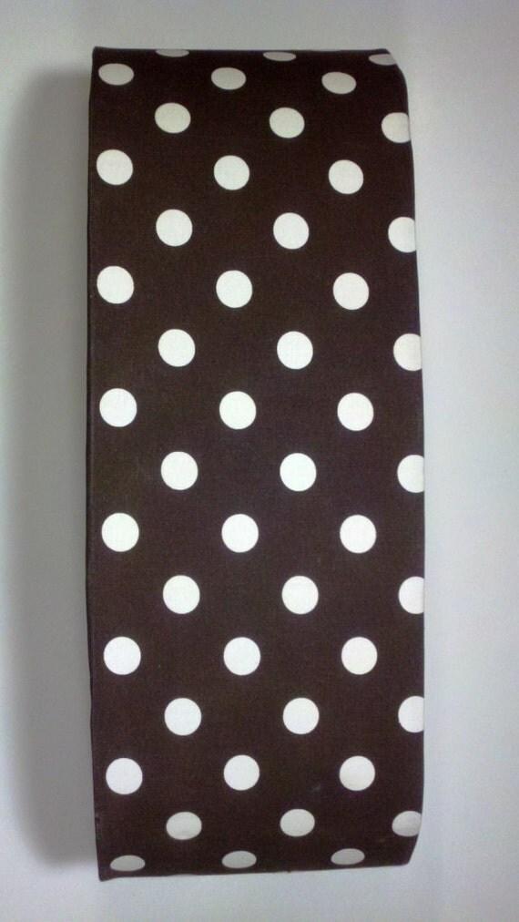 Chocolate Brown w/ White Polka Dots Vanity by VanityShadesofVegas