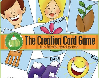 CREATION Match Card Game - Downloadable PDF Only