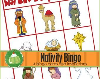 NATIVITY BINGO - Downloadable PDF Only