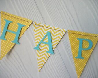 Happy Birthday Banner, Happy 1st Birthday Banner, Boys Birthday Banner, Birthday Decorations