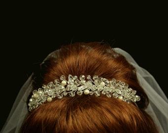 Bridal Tiara with Swarovski Crystals - Wedding Headpiece - Bridal Headband - Lissete Wedding Tiara with Bohemian and Swarovski crystals