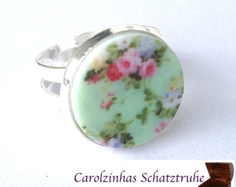 beleza - ring mint with flowers