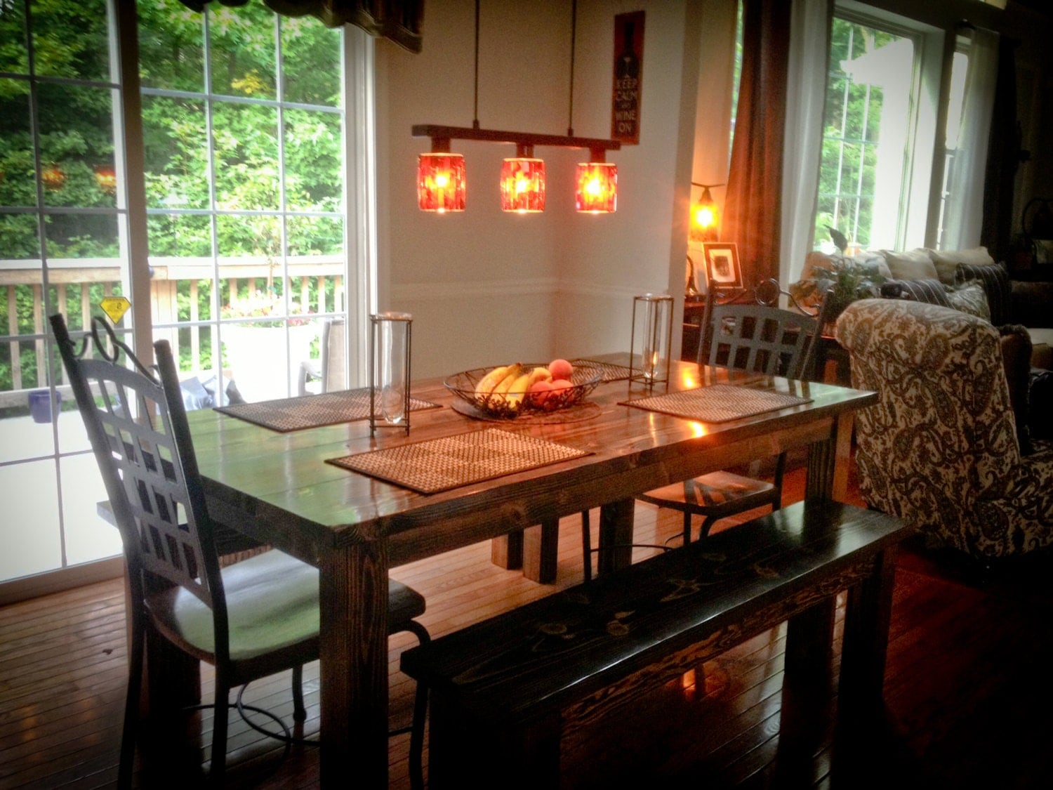 similar to 6ft farmhouse style kitchen dining room table on etsy