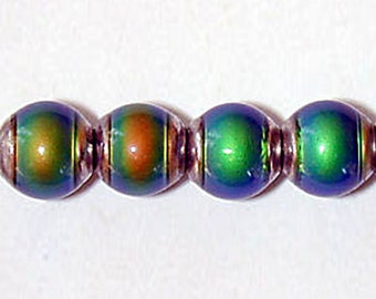 Mirage 6mm round color-changing mood bead