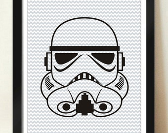 Digital Download Storm Trooper Helmet Pattern print art storm Trooper, Darth, Han Solo, room decor kids