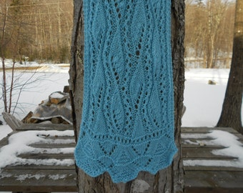 Airy Leaves Lace Scarf