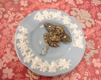 Vintage Victorian Lady Brooch all Vintage Pieces One of a Kind OOAK