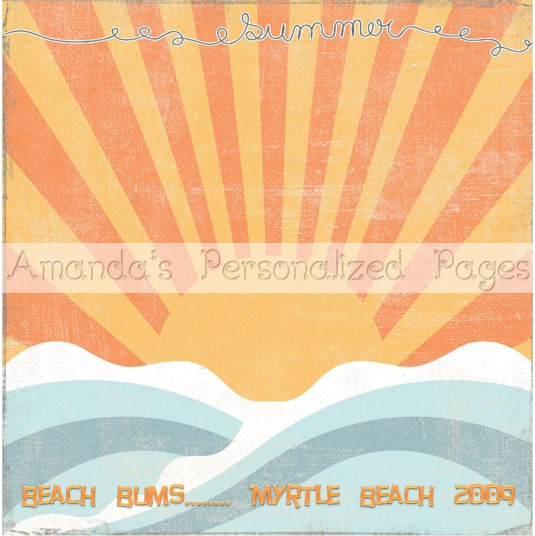 Scrapbook paper beach -  4 00