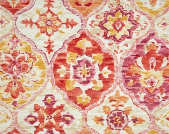 Outdoor Fabric by the Yard Pink Fabric Ikat Fabric Outdoor P Kaufmann Ali Baba Tangerine