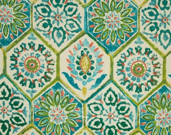 Outdoor Fabric by the Yard Turquoise Fabric Teal Fabric P Kaufmann Outdoor Summer Breeze Poolside