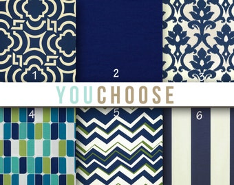 Outdoor Fabric by the Yard You Choose Outdoor Navy Blue Fabric