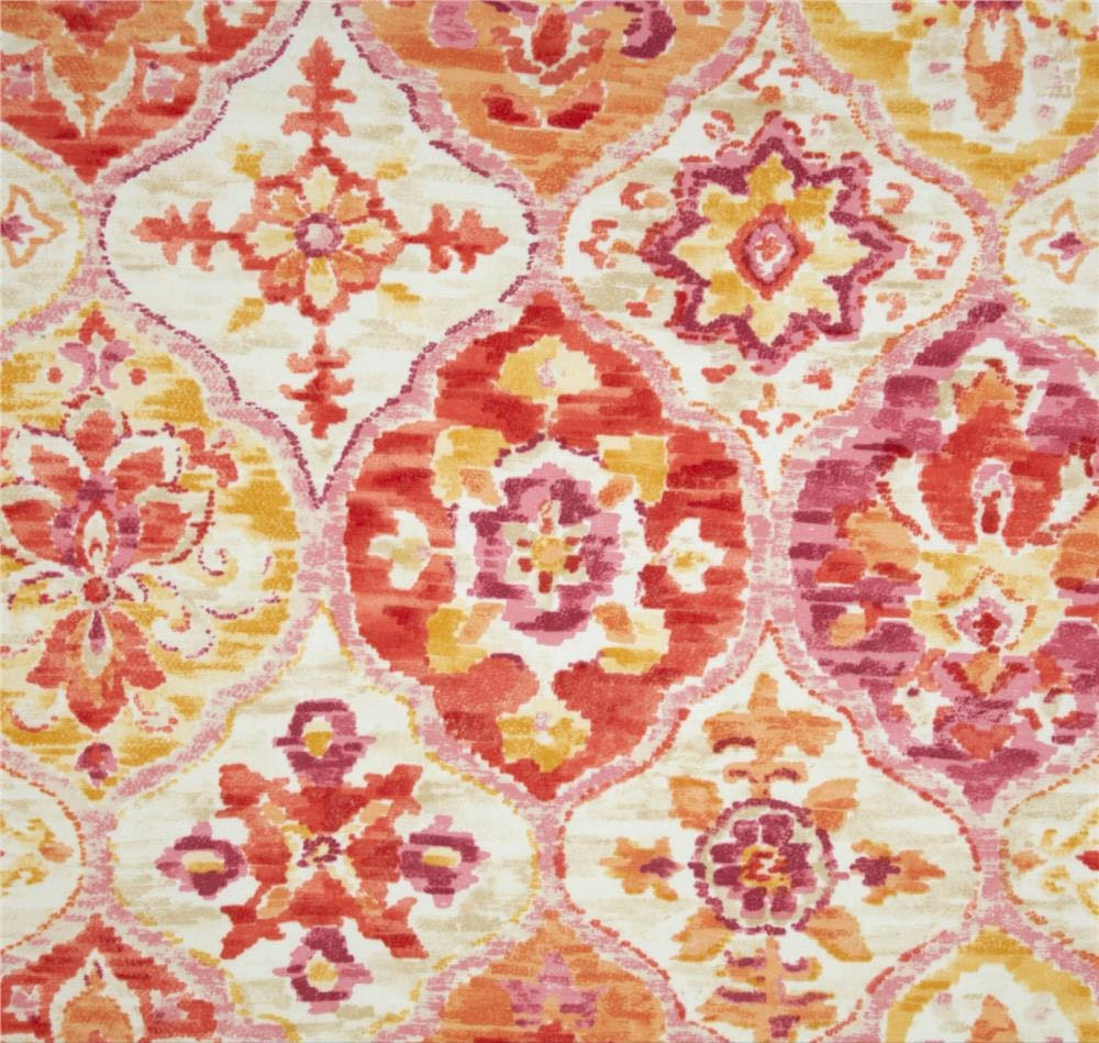 Outdoor fabric by the yard pink fabric ikat fabric outdoor p for Outdoor fabric by the yard